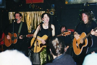 At the Sidewalk Cafe, NYC in the mid-1900's with Kurt Wrobel on bass and Dave Ross on drums.