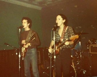 A photo of the very first Cucumbers show at the legendary Maxwell's in 1982, Hoboken, NJ