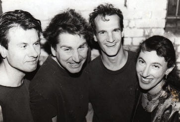 Early 1990's Cucumbers with drummers Yeurgen Renner and bassist Kurt Wrobel.